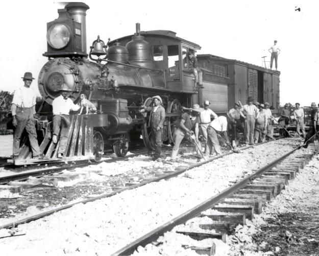 Double-tracking Flagler's Florida East Coast Railway, ca. 1928