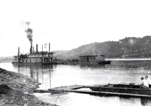 Dredge working the Matanzas River Inlet south of St. Augustine early 1900.  Courtesy, Florida Photographic Collection, State Library of Florida, Tallahassee, Fla.