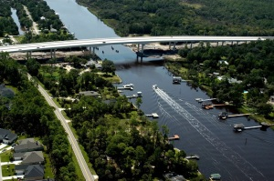 Palm Valley Bridge over the Intracoastal Waterway, near Ponte Vedra, Fla.