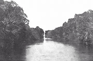 The old Haulover Canal before the 1950's