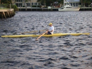 Author rows on the New River Sound (Intracoastal)