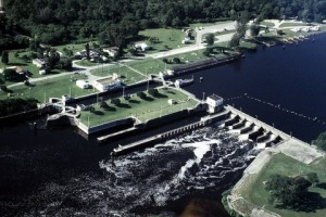 St. Lucie Lock and Dam, Gateway to the Gulf of Mexico from the Atlantic Intracoastal Waterway