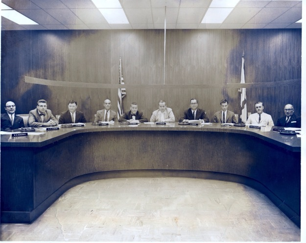 The members of the Broward County Zoning Board on April 3, 1963