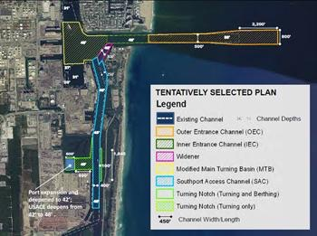 Approved tentative plan for the widening and deepening of port channels and turning basin.