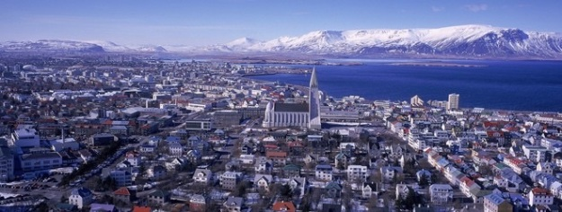 Reykjavik, capital of Iceland. Greenland has no