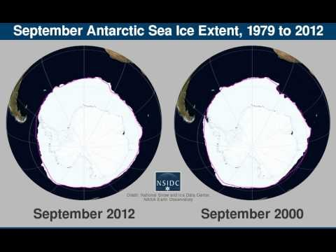 Dramatic increase in Southern polar sea ice since 1979