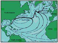 Gulf Stream from Florida to the British Isles